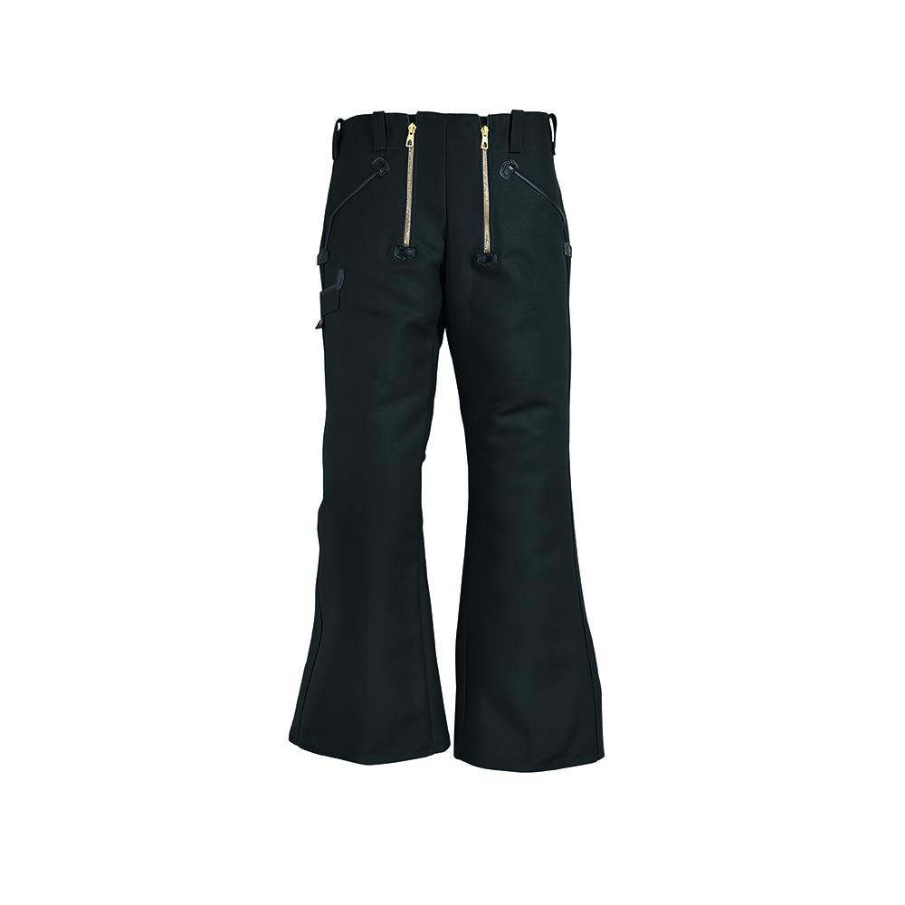 Black bell bottom work trousers