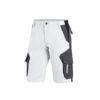 White and anthracite bermuda shorts