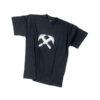 Black t-shirt with roofer's symbol