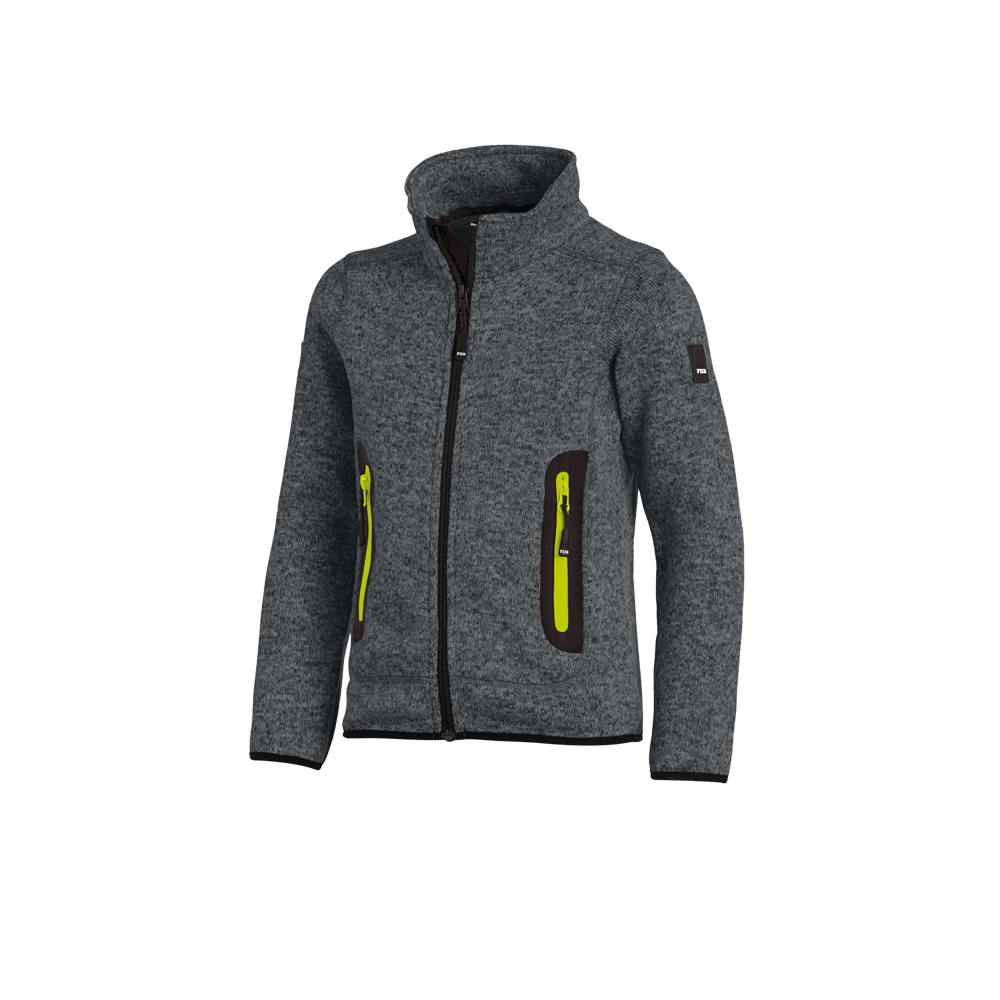 Anthracite knit fleece jacket