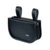Black leather double nail pouch