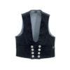 Black genoa corduroy guild vest