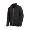 Black jersey fleece jacket