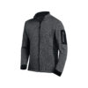 Anthracite and black knitted fleece jacket