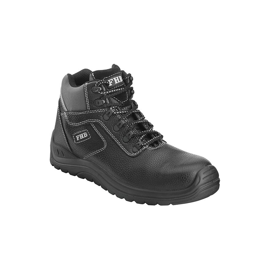 Black lace-up roofer boot