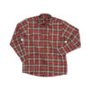 Red and black men's work shirt
