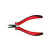 Mini head electronic pliers with red and black handle