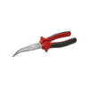 Snipe nose pliers with red and black handle