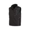 Black softshell waistcoat