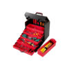 Organize tool case with red trays
