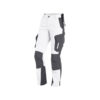 White and anthracite women's work trousers